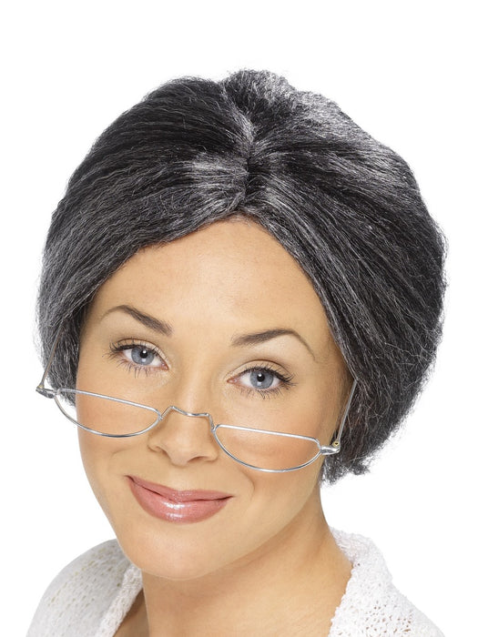 Granny Bun Grey Wig - The Ultimate Balloon & Party Shop