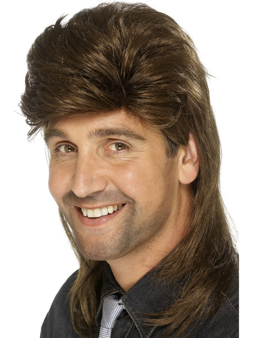 1980's Mullet Brown Wig - The Ultimate Balloon & Party Shop