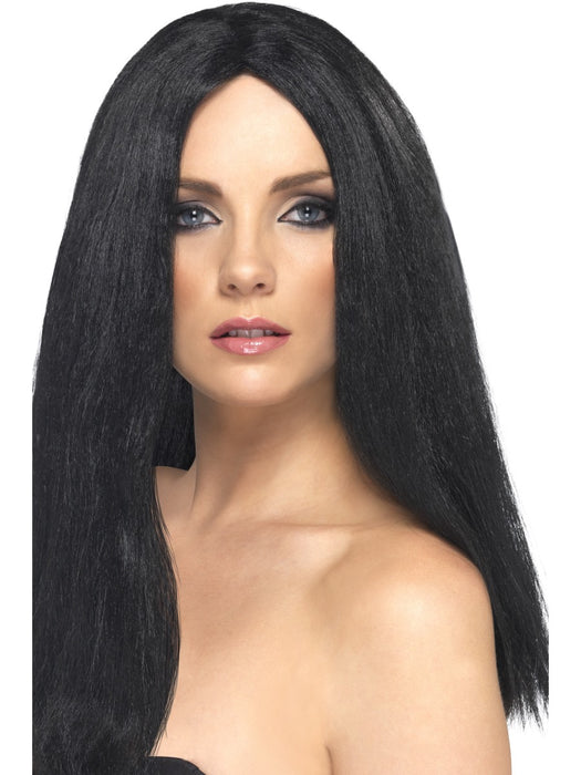 Star Style Black Female Wig - The Ultimate Party Shop