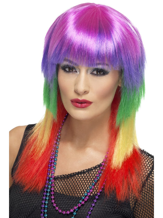 1980's Rainbow Rocker Wig - The Ultimate Party Shop