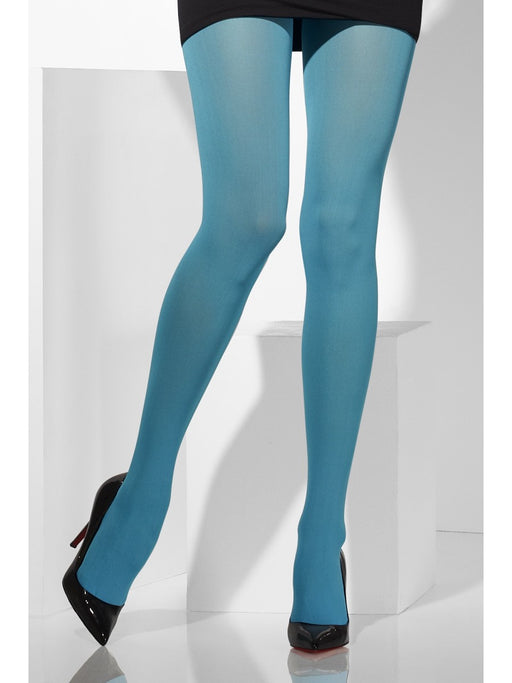 Opaque Coloured Tights - Blue