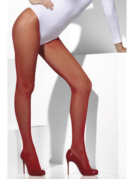 Fishnet Tights - Red - The Ultimate Party Shop