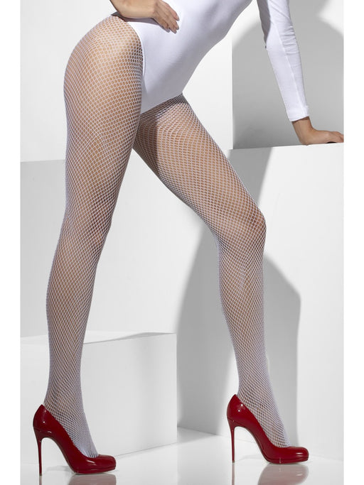 Fishnet Tights - White - The Ultimate Party Shop