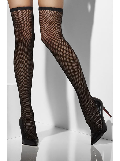 Fishnet Hold-Ups - Black - The Ultimate Party Shop