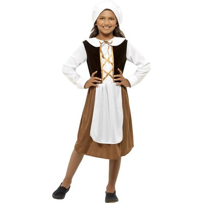 Tudor Girl Children's Costume - The Ultimate Balloon & Party Shop