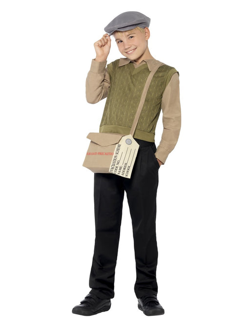 Evacuee Boy Kit Children's Costume - The Ultimate Party Shop