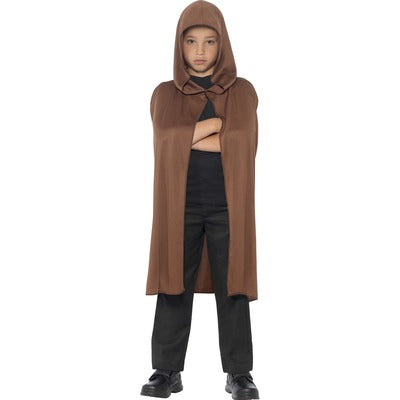 Brown Hooded Cape Children's Costume