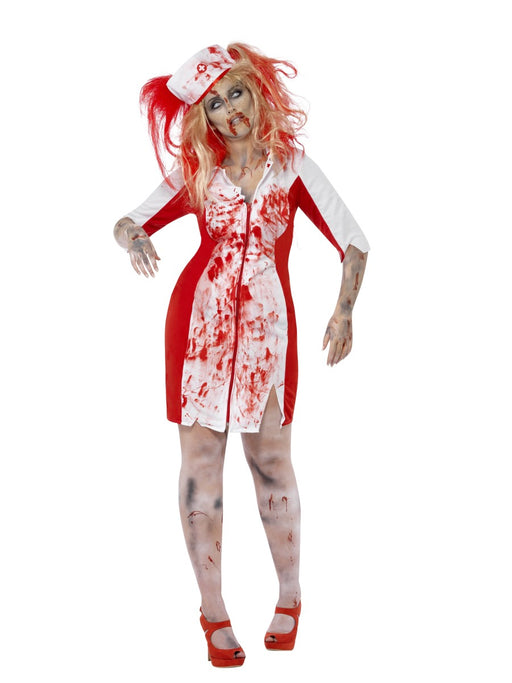 Curves Zombie Nurse Female Costume - The Ultimate Party Shop