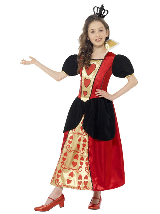 Miss Heart (Red Queen) Children's Costume - The Ultimate Party Shop