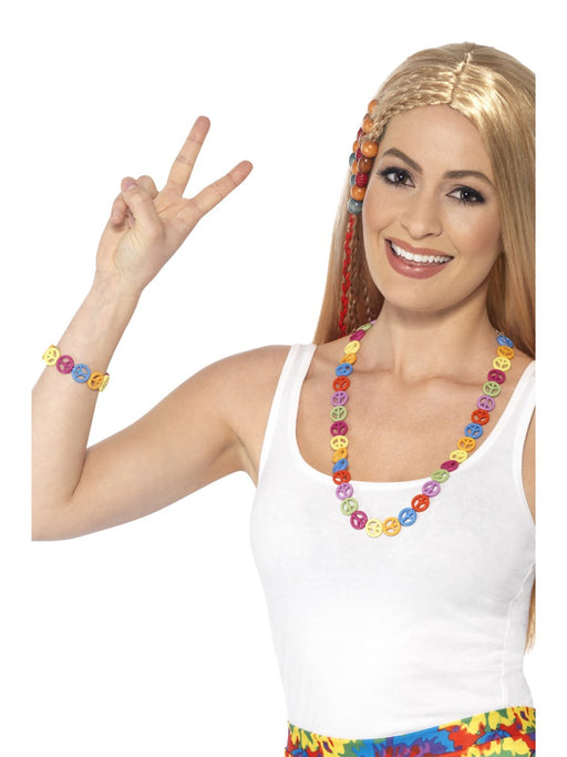 1960's Multicolored Peace Jewellery Set - The Ultimate Party Shop