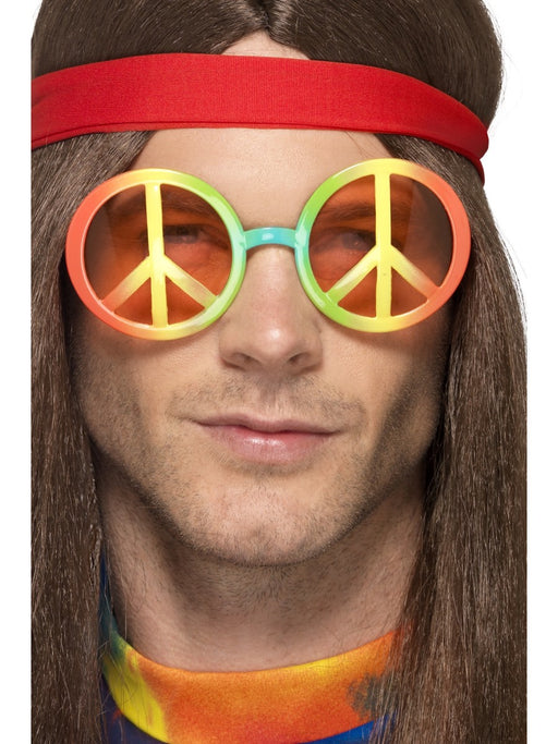 1960's Multicolored Peace Sign Glasses - The Ultimate Party Shop