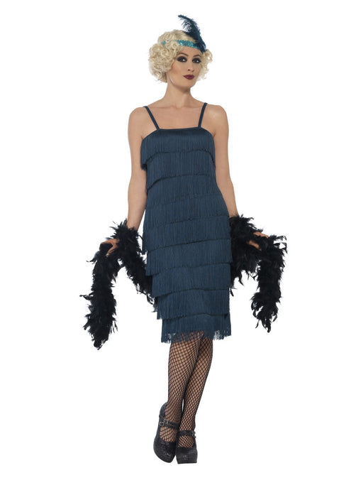 1920's Flapper Teal (Long) Costume - The Ultimate Balloon & Party Shop