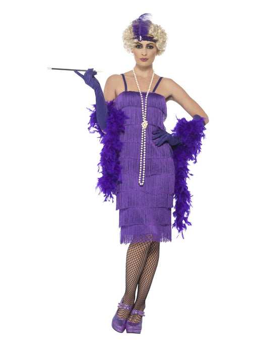 1920's Flapper Purple (Long) Costume - The Ultimate Balloon & Party Shop