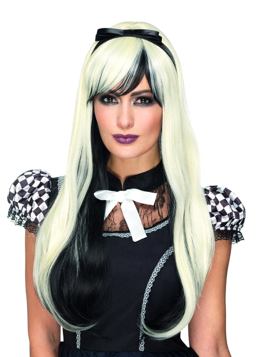 Dlx Devil Gothic Alice Wig - Blonde - The Ultimate Balloon & Party Shop