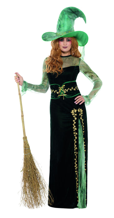 Deluxe Emerald Witch Female Costume