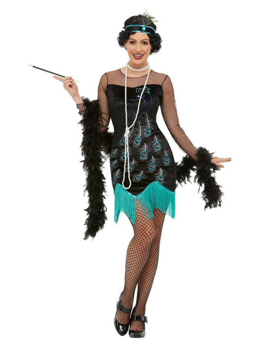 1920's Peacock Flapper Costume - The Ultimate Balloon & Party Shop
