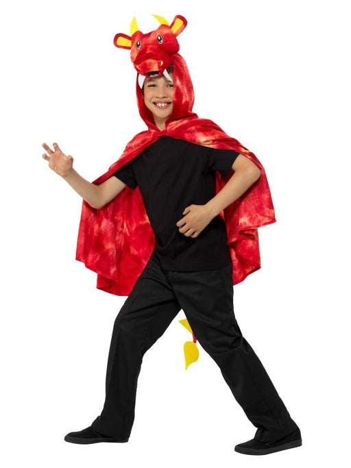 Dragon Cape Red Children's Costume