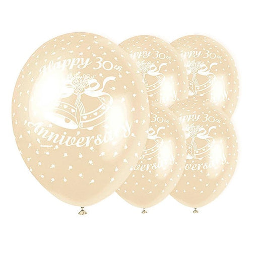 30th Anniversary Balloons 5 Pack - The Ultimate Party Shop