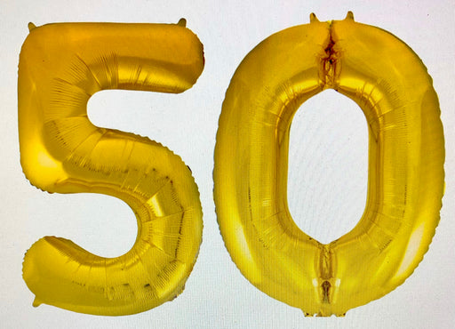 Age 50 Number Foil Balloons - The Ultimate Party Shop
