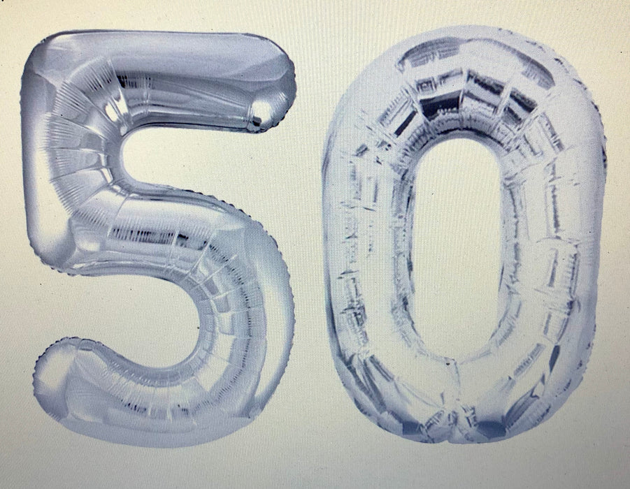 Age 50 Number Foil Balloons - The Ultimate Balloon & Party Shop