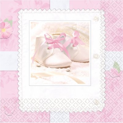 Tiny Blessings Pink Napkins