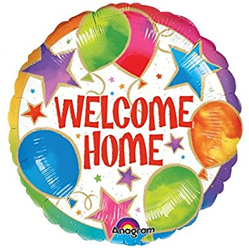 "18"" Foil Welcome Home Bright Balloon - The Ultimate Party Shop"