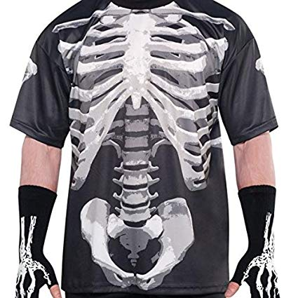 Black & Bone Skeleton T-Shirt - The Ultimate Balloon & Party Shop