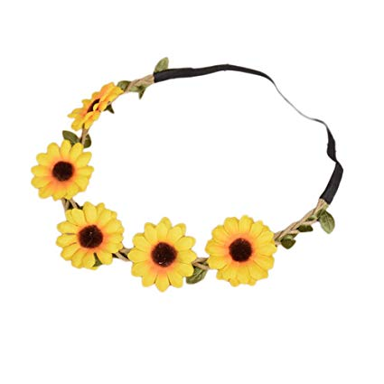 Sunflower Hippie Headband - The Ultimate Party Shop