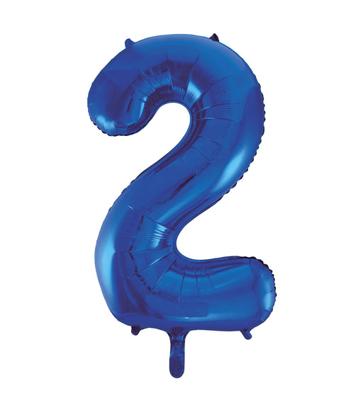 Number 2 Foil Balloon Blue
