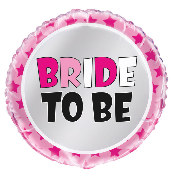 "18"" Foil Bride to Be Pink Balloon - The Ultimate Party Shop"