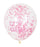 Confetti Balloons  Its a Girl with Pink Confetti