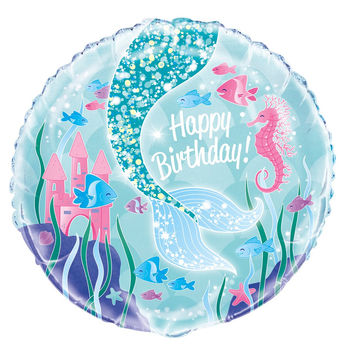 "18"" Foil Mermaid Printed Balloon - The Ultimate Party Shop"