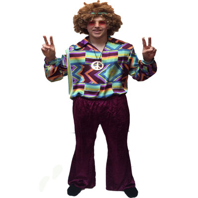 1960s/1970s Hippy Hire Costume - ZigZag CND - The Ultimate Balloon & Party Shop