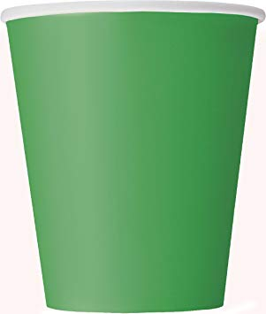 Paper Cups - Green - The Ultimate Balloon & Party Shop