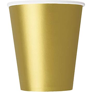 Paper Cups - Gold - The Ultimate Balloon & Party Shop