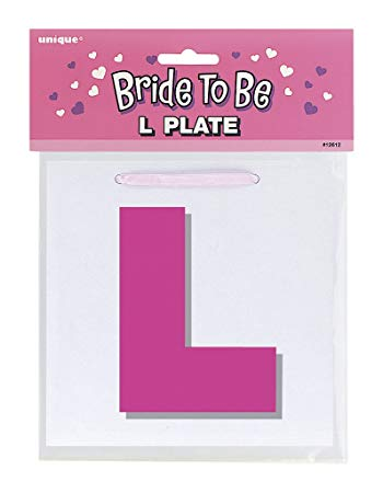 Bride To Be - L Plate - The Ultimate Party Shop