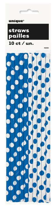 Paper Straws - Blue & White. - The Ultimate Balloon & Party Shop