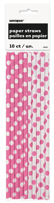 Paper Straws - Pink & White. - The Ultimate Balloon & Party Shop