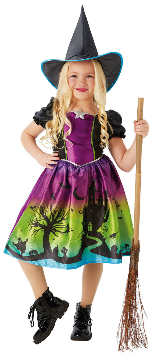 Ombre Witch Girl's Costume - The Ultimate Party Shop