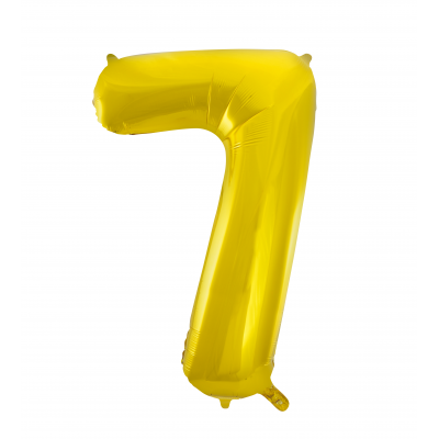 Number 7 Foil Balloon Gold