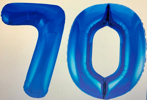 Age 70 Number Foil Balloons - The Ultimate Party Shop