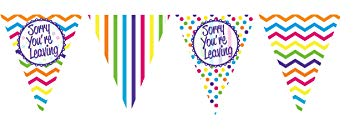 Paper Bunting - Sorry You're Leaving