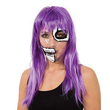 Skeleton Transparent Mask - 1/2 Print - The Ultimate Party Shop