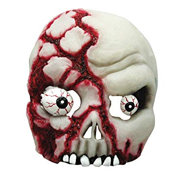 Skull Half Face Mask - Glow In The Dark - The Ultimate Party Shop