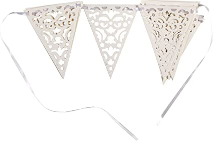 Wedding Bunting - White Swirls - The Ultimate Balloon & Party Shop