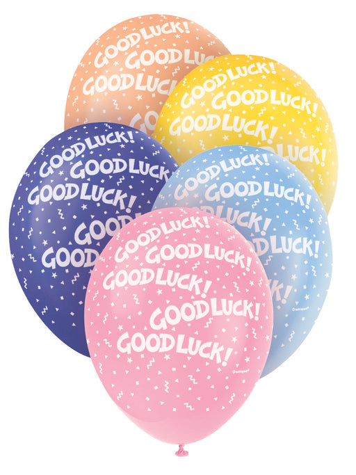 Good Luck Asst Colour Balloons 5 Pack - The Ultimate Balloon & Party Shop