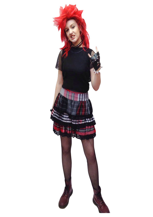 NEW 1980s Punk Lady Hire Costume - The Ultimate Balloon & Party Shop