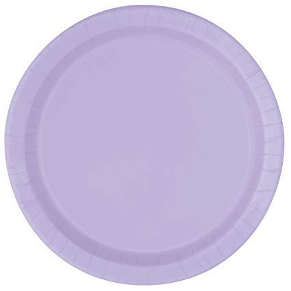 Round Paper Plates - Lavender - The Ultimate Party Shop