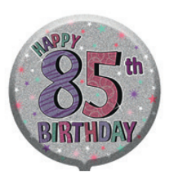 "18"" Foil Age 85 Pink Birthday Balloon"
