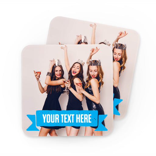 Personalised Photo Coaster  £3.50 per coaster (Pack 4) - The Ultimate Party Shop